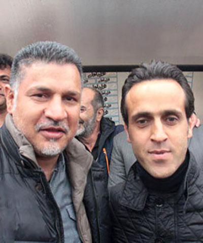 علی کریمی و علی دایی در موزه افتخارات بایرن مونیخ/عکس