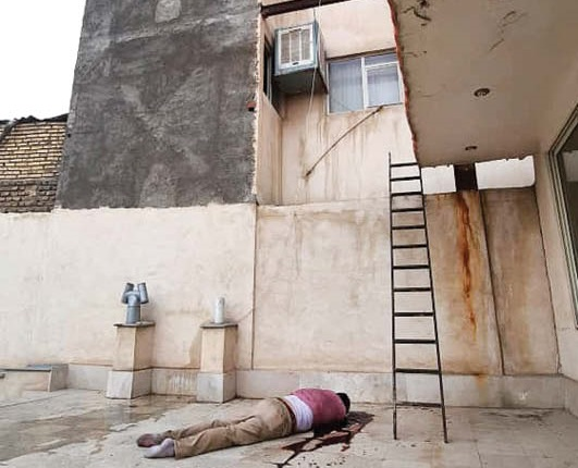 سقوط مشکوک یک مرد پس از به آتش کشیدن آپارتمان طبقه سوم