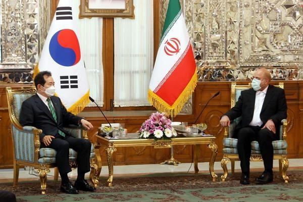 دیدار نخست وزیر کره جنوبی با قالیباف و لاریجانی