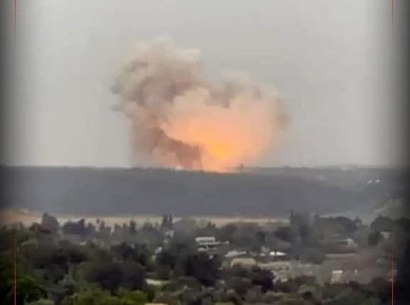 انفجار مهیب در کارخانه صنایع موشکی رژیم صهیونیستی/ ویدئو